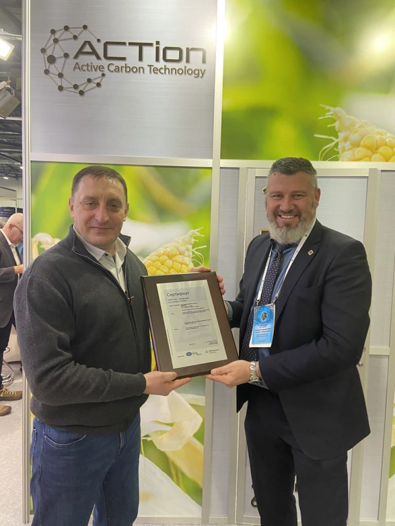 Вручение сертификата ISO 9001